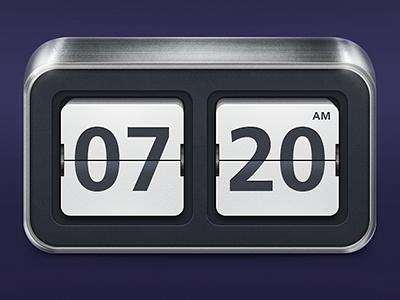 Flip Clock  flip clock number gui time ios alarme
