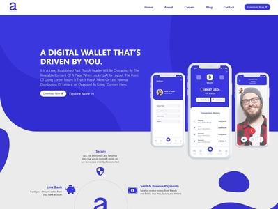 Ammano Web Design web ux vector typography minimal catchy branding webdesigner web design moderndesign blue webiste ui webdesign