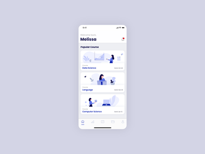Learning App - IOS mobile illustration minimal color mobile ui ios app ui