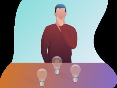 The Right Choice professional design professional idea sketch web illustration flat design