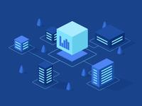 Illustration for website of IT-company MKSKOM