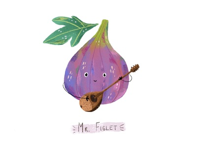 Mr Figlet music editorial art editorial illustration children book illustration children art book illustration children illustration draw art illustration character illustration character art food fruit fig