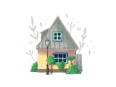 House #9 editorial illustration children art book illustration artist draw art illustration home illustration house illustration home house