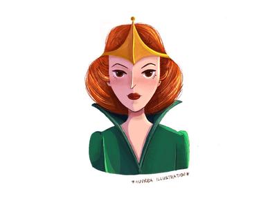 Queen Marlena art illustration he-man masters of the universe character character design heman