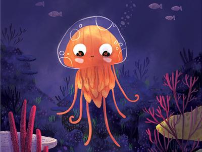 Jellyfish illustrator children art children book illustration book illustration children illustration art illustration sea underwater ocean animal jellyfish