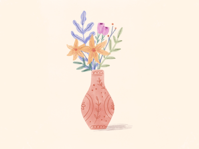 Vase with plants