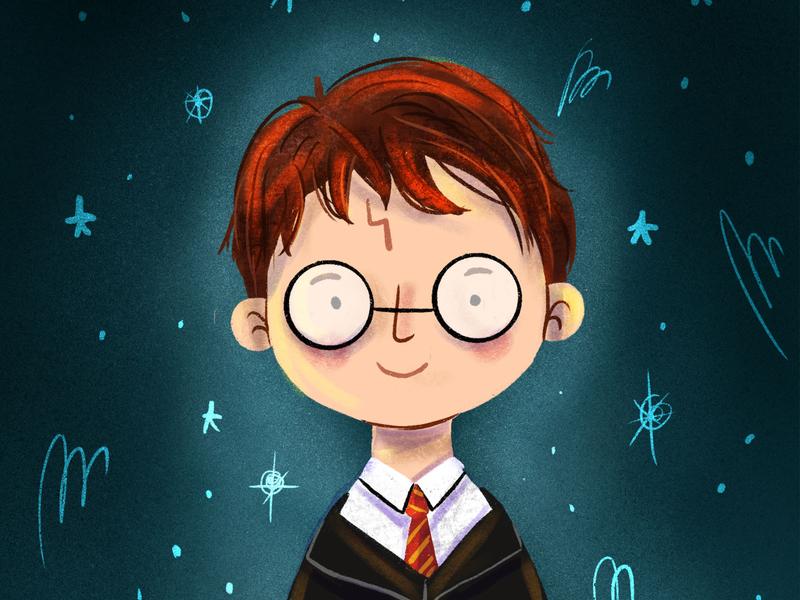 Harry Potter illustrator artist draw magic fanart book illustration children illustration art illustration jk rowling harry potter harrypotter