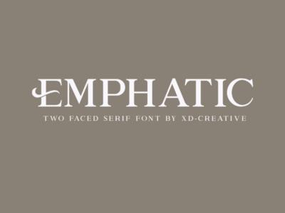 Free | Emphatic Modern Serif modern lettering wedding elegant luxury fashion calligraphy typeface branding typography display font design serif font