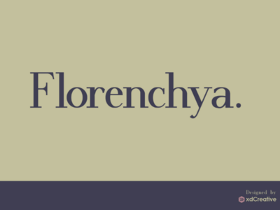 Florenchya logo branding letters graphic type text lettering handwritten script modern luxury fashion typeface typography font serif elegant