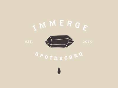 immerge apothecary branding lettering typography minimal icons marketing tattoo illustration small business smallbusiness vector icon branding logo
