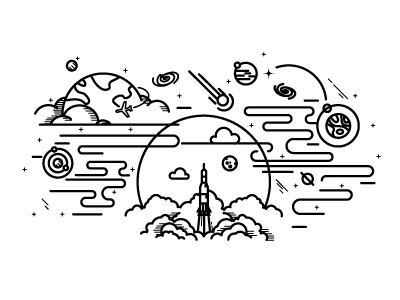 Space Tattoo By Salt Ember Design Co Dribbble Dribbble