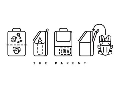 Atlas Leather Backpacks baby small business minimal logo branding icon