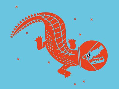 Alligator Space Invader bowie