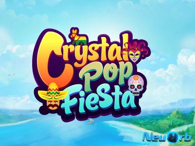 Crystal Pop Fiesta icon vector ui ux typography app logo illustration game design background design adobe illustrator