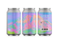 Alpenglow beer label psychedelic can pnw aslan branding craft beer washington beer bellingham
