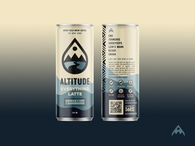 Altitude Everything Latte cbd mountains branding can label latte pnw coffee