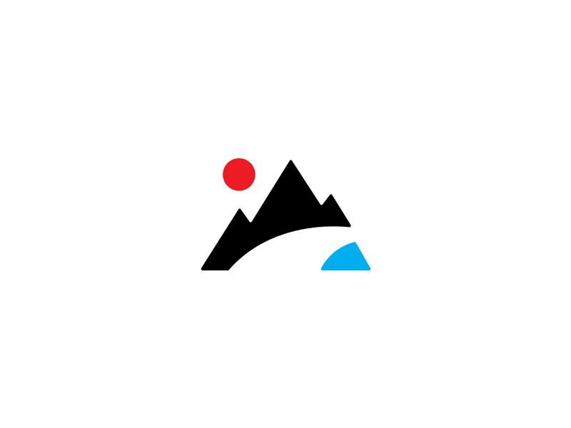 Minimal Camping Scene minimal branding logo pnw tent outdoor camping