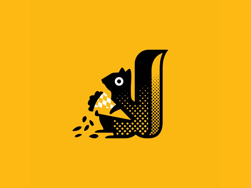 Absolutely Nuts Squirrel branding logo roasted nuts squirrel