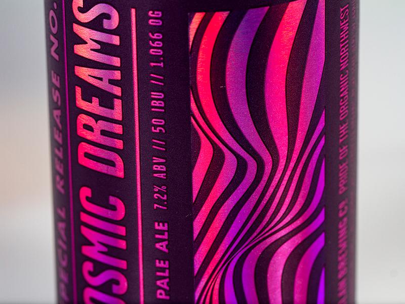 Cosmic Dreams craft beer washington bellingham psychedelic can beer