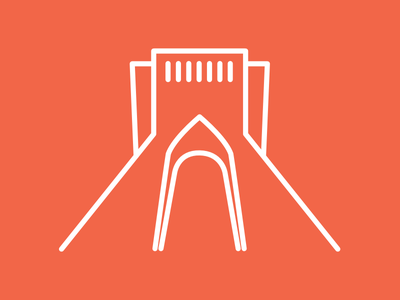 Azadi Tower Icon illustration line iran tehran tower azadi icon