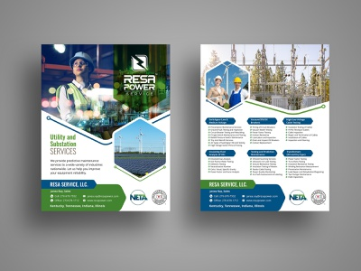 RESA Power postcards postcard design flyer illustrator creative design graphic design graphics vivekgraphicdesign creative design