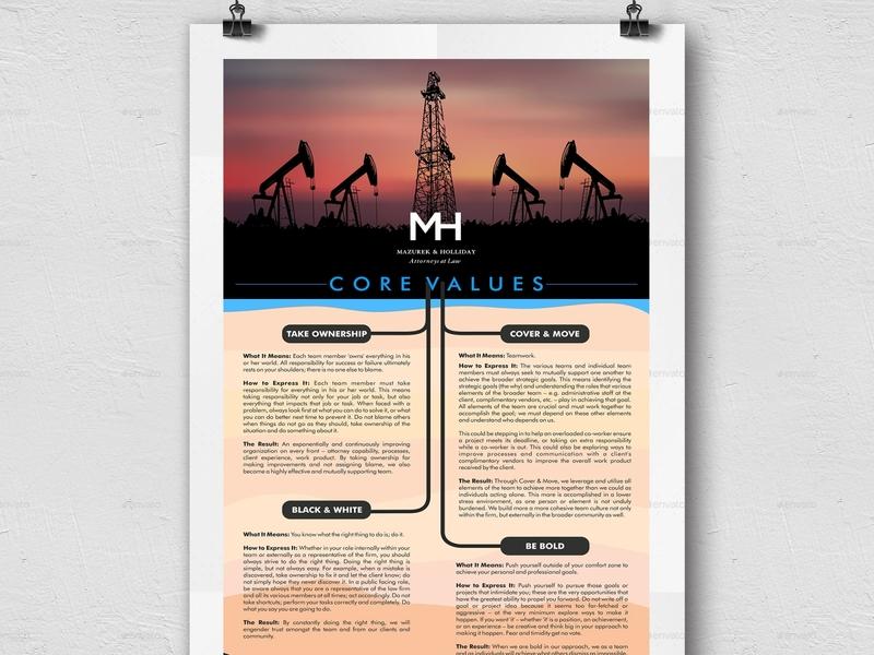 Mazurek Holliday PC brochure mockup brochure design poster graphic design vivekgraphicdesign graphics creative illustration poster design poster art creative design