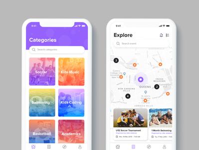 Childcare mobile app android app ios app developer app designer mobile app design vivekappdesign app ux illustrator illustration ui design creative creative design