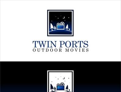 Twin Ports Outdoor Movies digital signature digital art photoshop coreldraw logo designer logodesign viveklogodesign branding logo illustrator illustration design creative creative design