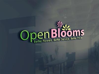 Open Blooms logotype designer photoshop coreldraw logo design vector icon branding logo illustrator illustration design creative creative design