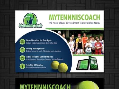 Mytenniscoach net brochure design flyer design graphics graphic design vivekgraphicdesign photoshop coreldraw illustrator illustration design creative creative design
