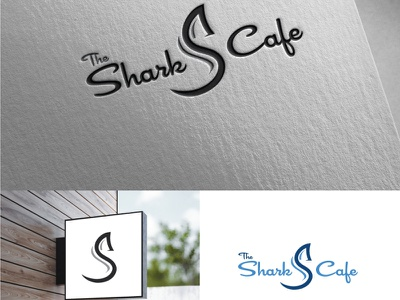 The Shark s Cafe branding logo coreldraw photoshop illustrator illustration design creative creative design
