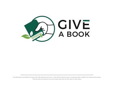 GIVE A BOOK creative design branding logo coreldraw photoshop illustrator illustration creative design