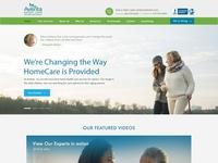 Aventa Senior Care - Home Page Design Concept