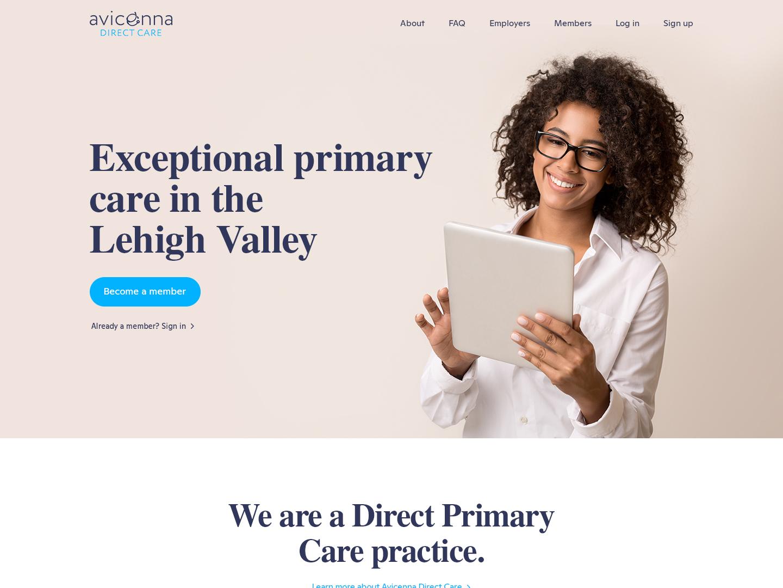 Avicenna physician patient health webdesign ui creative illustrator typography vivekwebsitedesign