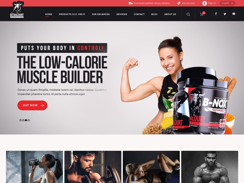 Betancourt Nutrition supplement workout supplement weight loss muscle body website design ui design creative design illustrator vivekwebsitedesign