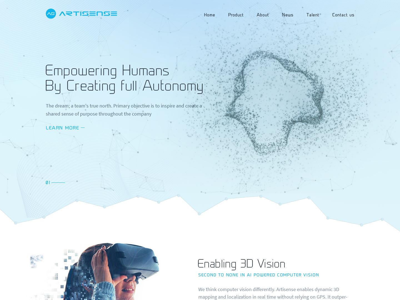 Artisense 3d artist 3d vision website design creative design illustrator ui typography vivekwebsitedesign artisense