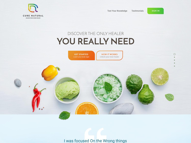 Cure Natural creative design website design cure natural illustration ui vivekwebsitedesign