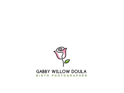 Gabby Willow Doula  Birth Photographer abstract art creative illustrator branding logo ui viveklogodesign