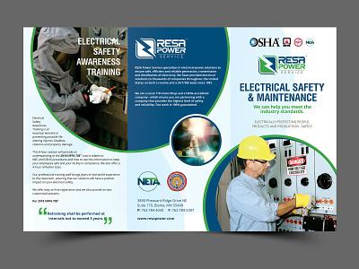 RESA Power creative brochure template graphic design vivekgraphicdesign brochure design creative design brochure