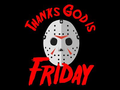 Tgif    Thanks God Is Friday movie thsirt illustration typography vector