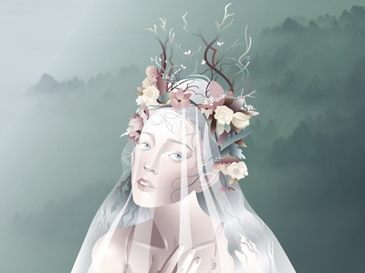 Forest Ghost vector ilustration