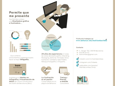 Presentation infographic about myself vector ilustration graphic  design infographics