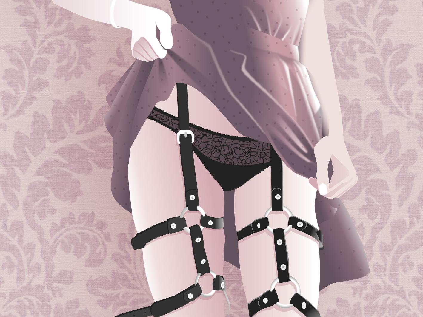 Fetiche vector female ilustration