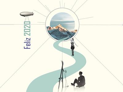 Happy 2020! branding graphic  design collage art collage
