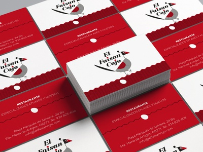 CARDS FAISAN COJO RESTAURANT bussines card logo branding graphic  design