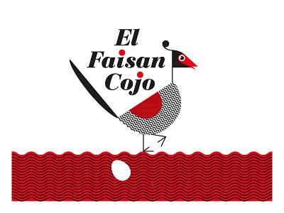 FAISAN ROJO typography design logo branding