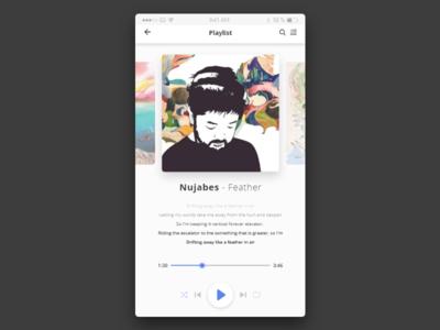 Music player UI - Daily UI Design Challenge ios iphone mobile app adobe experience design dailyui player music ux ui design