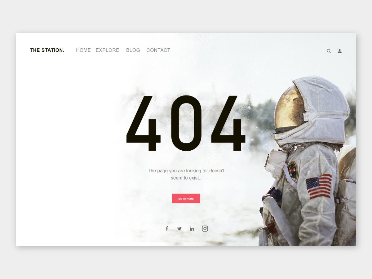 404 Page - #DailyUI Challenge typography dailyui adobe experience design web branding ui ux design
