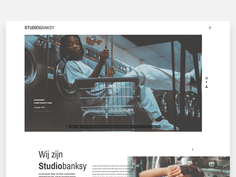 Design studio - Studio Banksy design studio studio webdesign web dailyui adobe experience design design branding ux ui