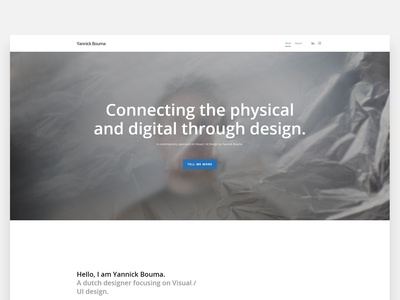 Portfolio website design - Visual / UI Design portfolio website portfolio page portfolio design portfolio ui design visual design visual dailyui header homepage webdesign web design branding ux ui
